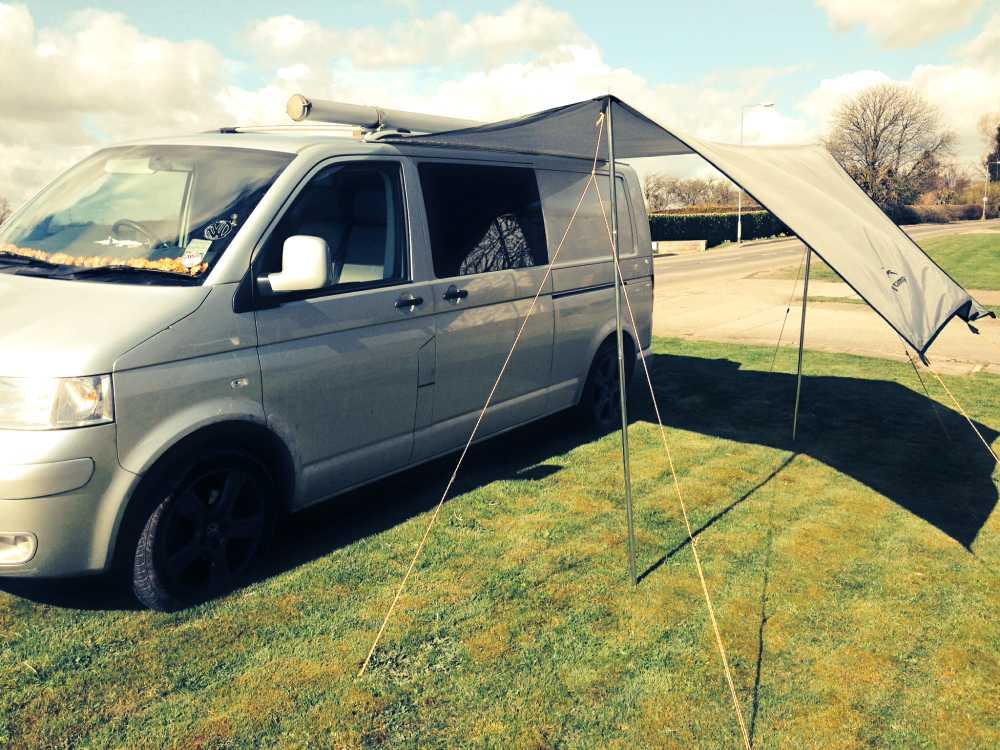 Camper Canopy Tarp Grey